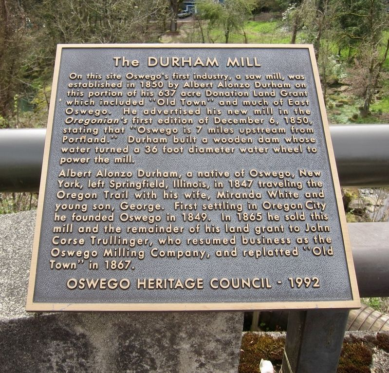 The Durham Mill Marker image. Click for full size.