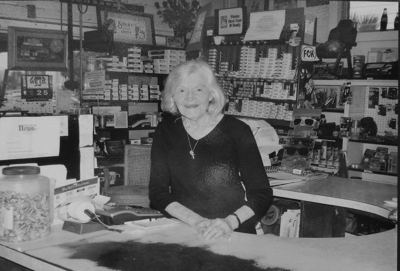 "Marker detail: ""Miss"" Joy Brown at the counter image. Click for full size."