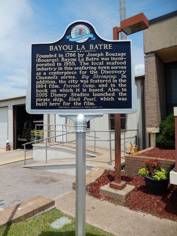 Bayou La Batre Marker (<i>tall view</i>) image. Click for full size.