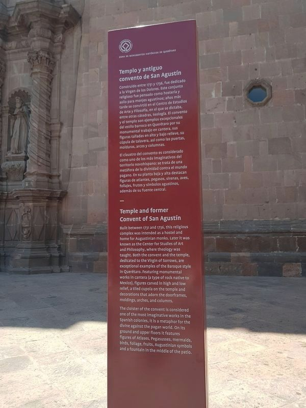 Temple and former Convent of San Agustín Marker image. Click for full size.