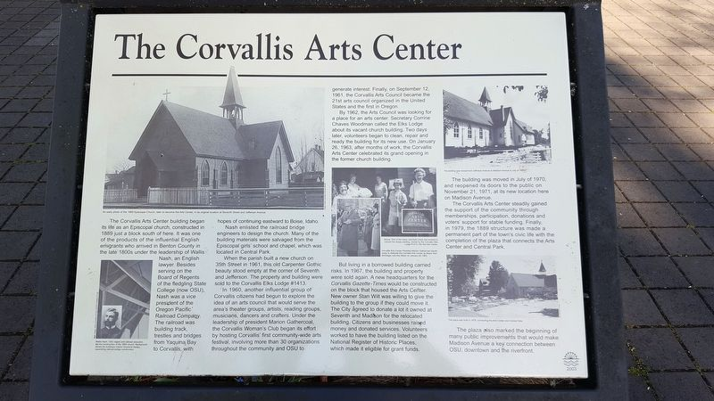 The Corvallis Arts Center Marker image. Click for full size.