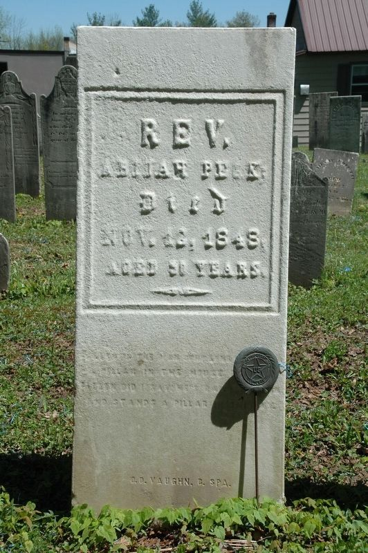 The Reverend Abijah Peck Grave image. Click for full size.