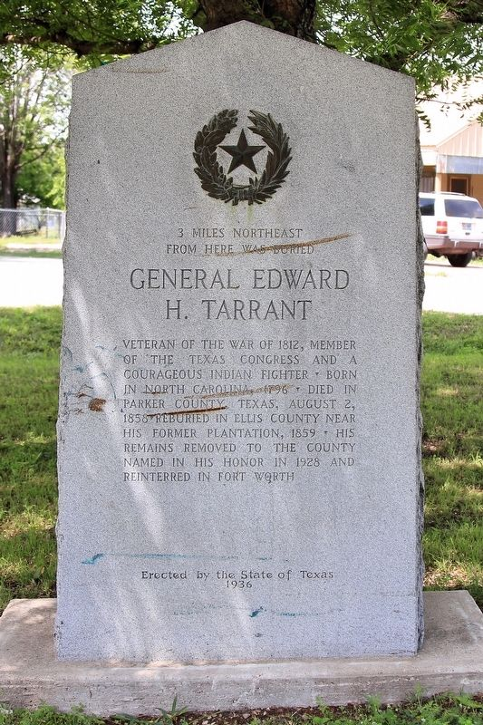 General Edward H. Tarrant Marker image. Click for full size.