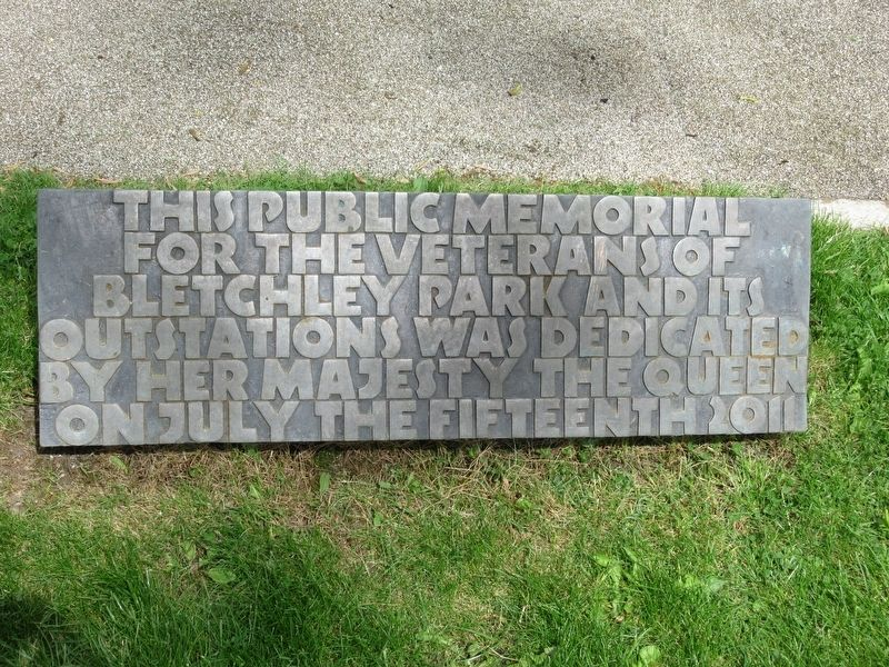 Bletchley Park Public Memorial image. Click for full size.
