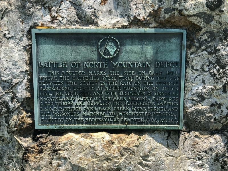 Battle of North Mountain Depot Marker image. Click for full size.