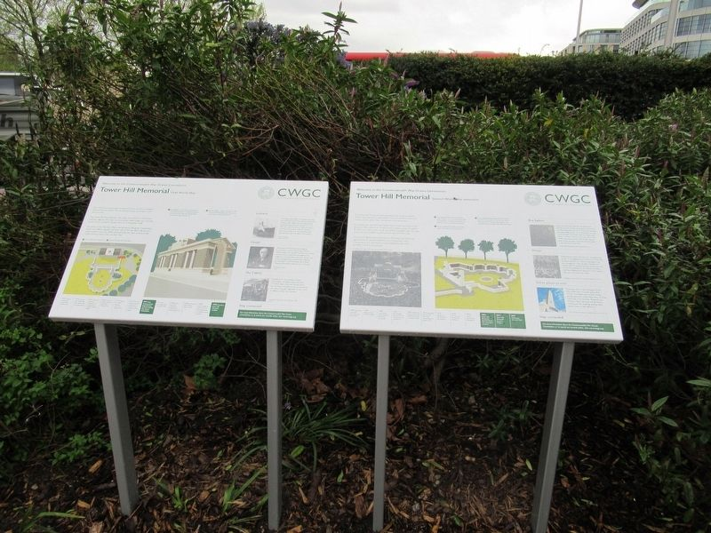 The Tower Hill Memorial Markers image. Click for full size.