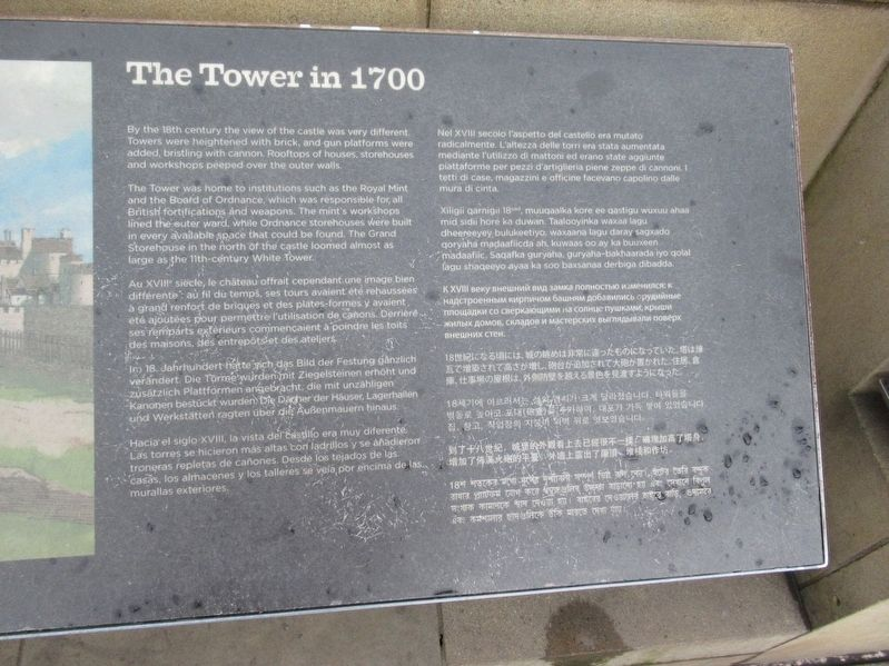 The Tower in 1700 Marker image. Click for full size.