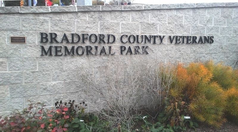 Bradford County Veterans Memorial Park image. Click for full size.