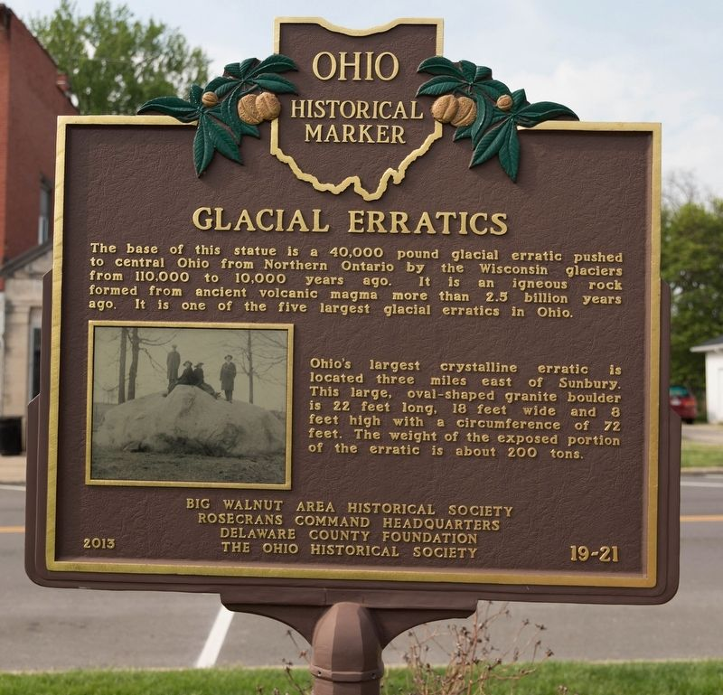 Glacial Erratics Face of Marker image. Click for full size.