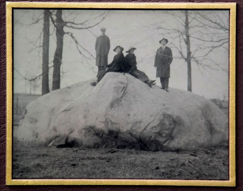 Ohio's Largest Crystalline Erratic image. Click for full size.