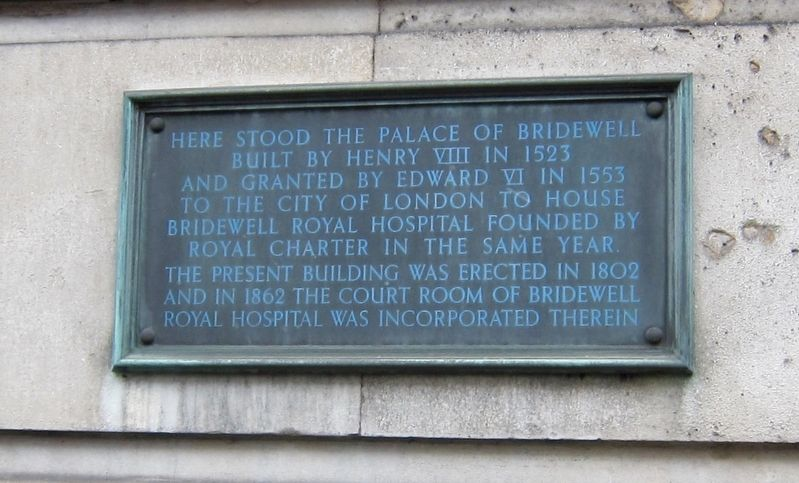 The Palace of Bridewell Marker image. Click for full size.