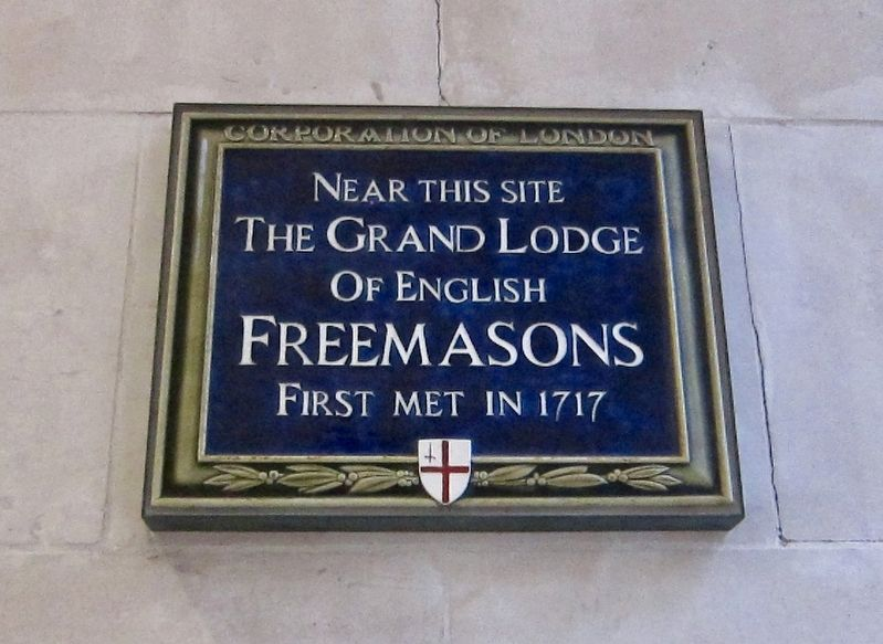 The Grand Lodge of English Freemasons Marker image. Click for full size.