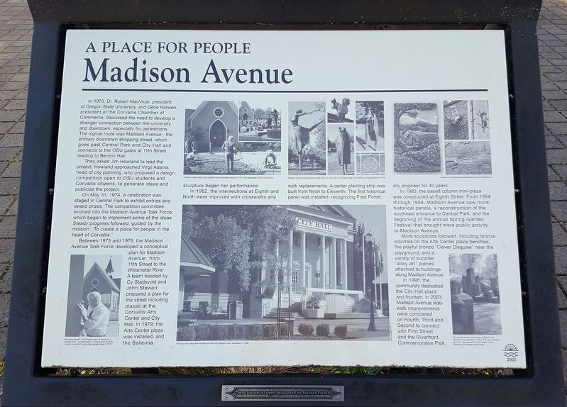 Madison Avenue Marker image. Click for full size.