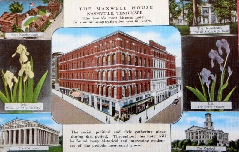The Maxwell House Postcard image. Click for full size.