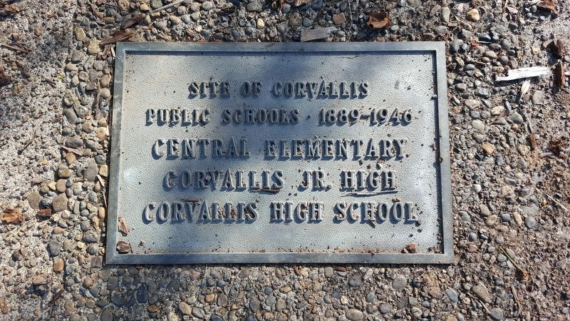 Site of Corvallis Public Schools Marker image. Click for full size.