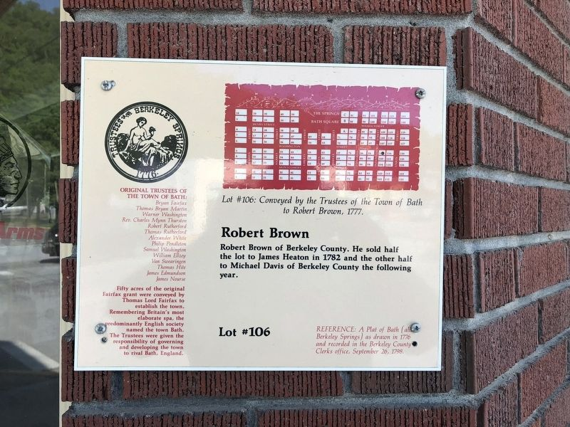 Robert Brown Marker image. Click for full size.
