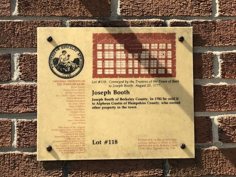 Joseph Booth Marker image. Click for full size.