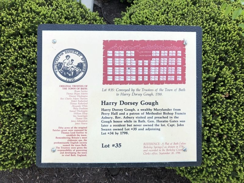 Harry Dorsey Gough Marker image. Click for full size.