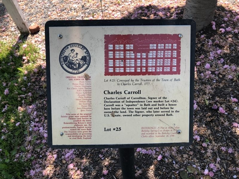 Charles Carroll Marker image. Click for full size.