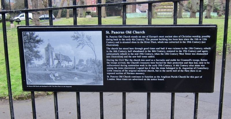 St. Pancras Old Church Marker image. Click for full size.