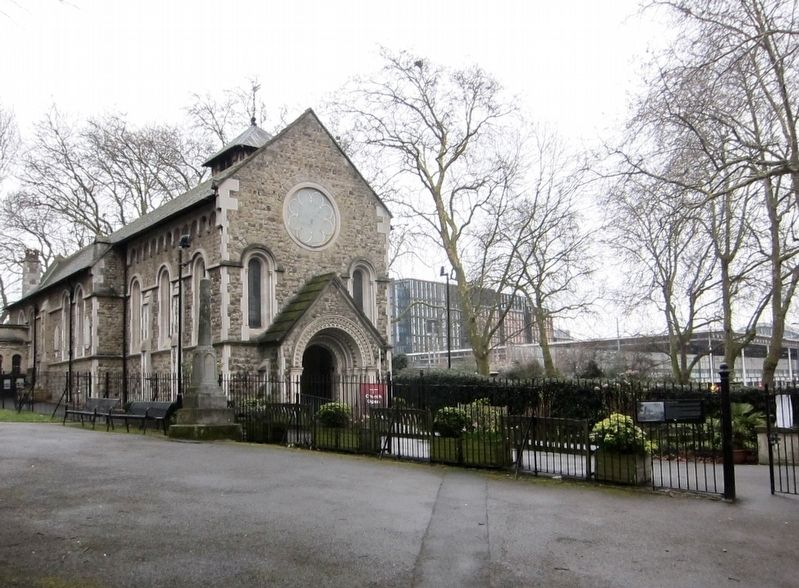 St. Pancras Old Church and Marker image. Click for full size.