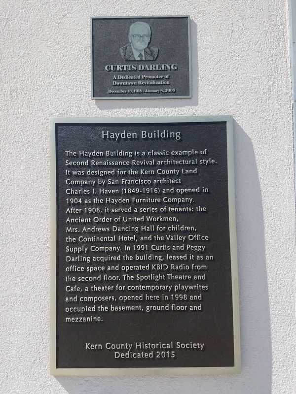 Hayden Building Marker image. Click for full size.