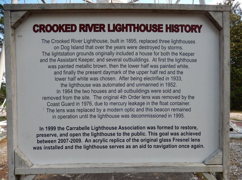 Crooked River Lighthouse History Marker image. Click for full size.