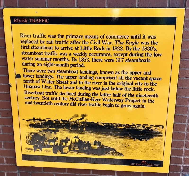 River Traffic Marker (lower marker) image. Click for full size.