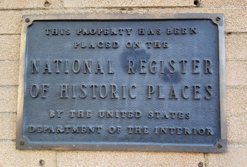 NRHP plaque near historical marker image. Click for full size.