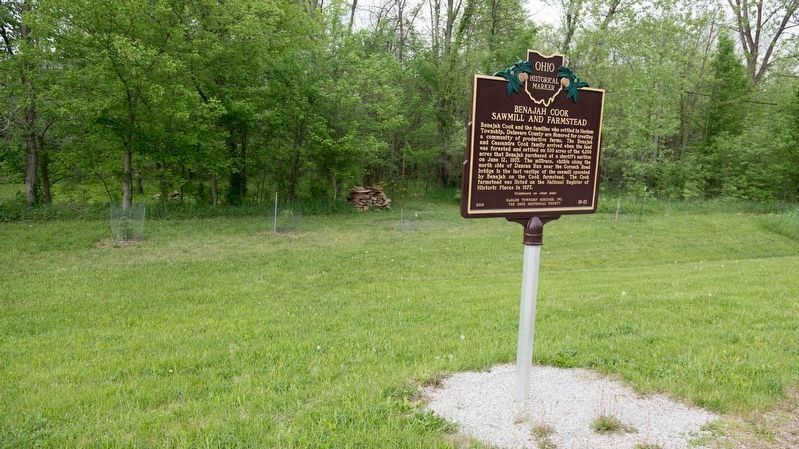 Benajah Cook Sawmill and Farmstead Marker image. Click for full size.