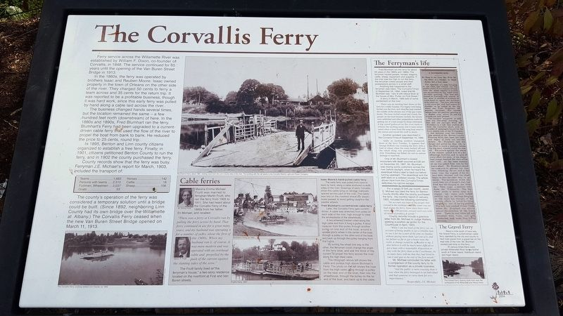 The Corvallis Ferry Marker image. Click for full size.