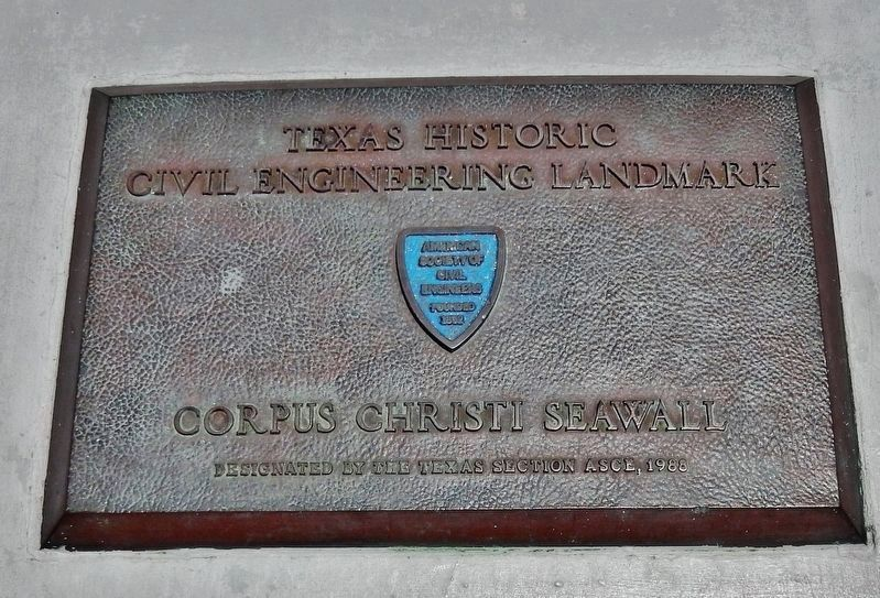 Texas Civil Engineering Landmark Plaque (<i>adjacent to marker</i>) image. Click for full size.