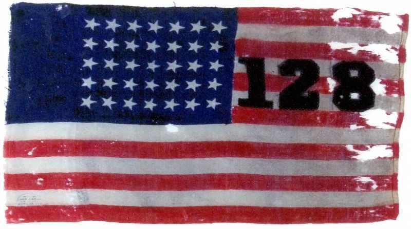 Camp Flag of the 128th NY Infantry image. Click for full size.