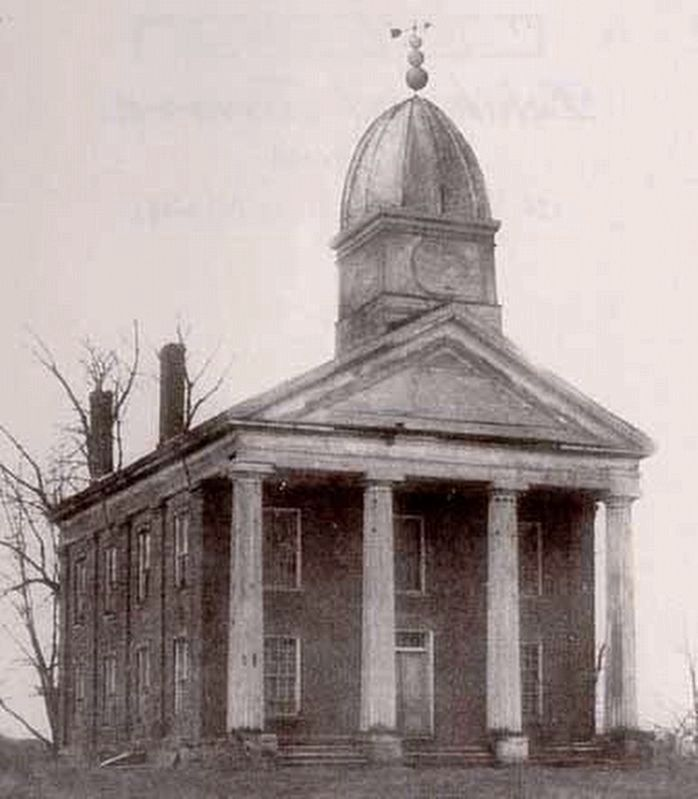 Old photo of the Tremont Courthouse image. Click for full size.