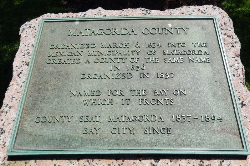Matagorda County Marker image. Click for full size.