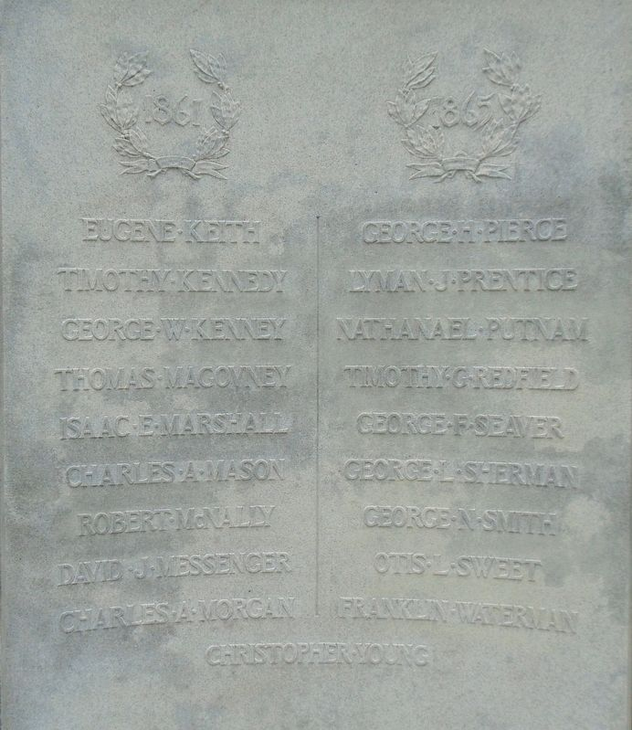 Civil War Memorial Honored Dead image. Click for full size.