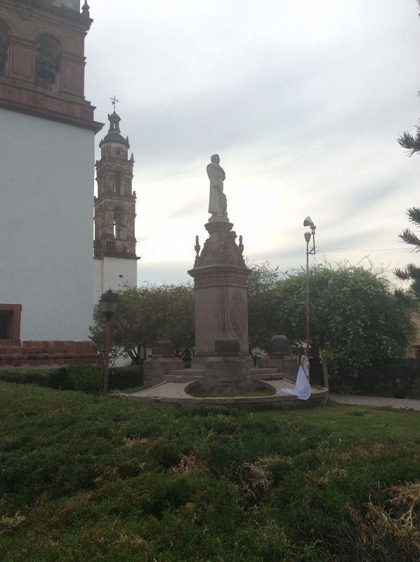 The statue of Saint Francis at the Church and Former Convent of San Buenaventura image. Click for full size.
