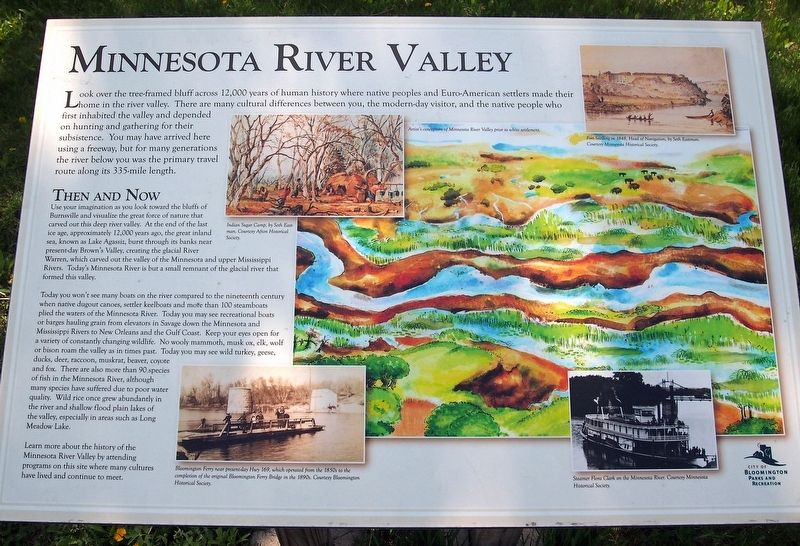 Minnesota River Valley marker image. Click for full size.
