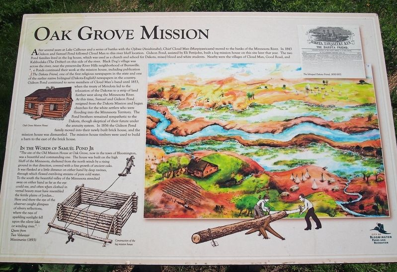Oak Grove Mission marker image. Click for full size.