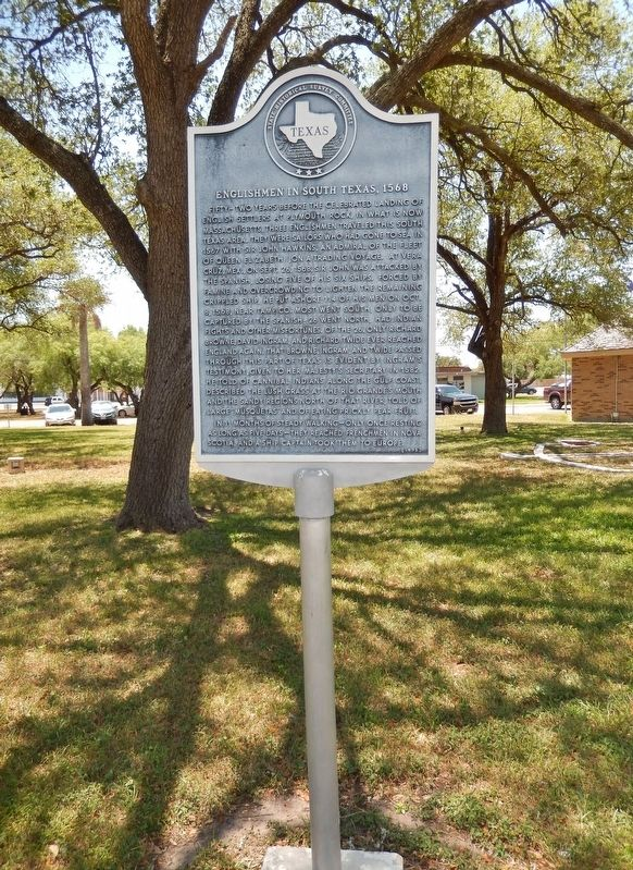 Englishmen in South Texas, 1568 Marker (<i>tall view</i>) image, Touch for more information