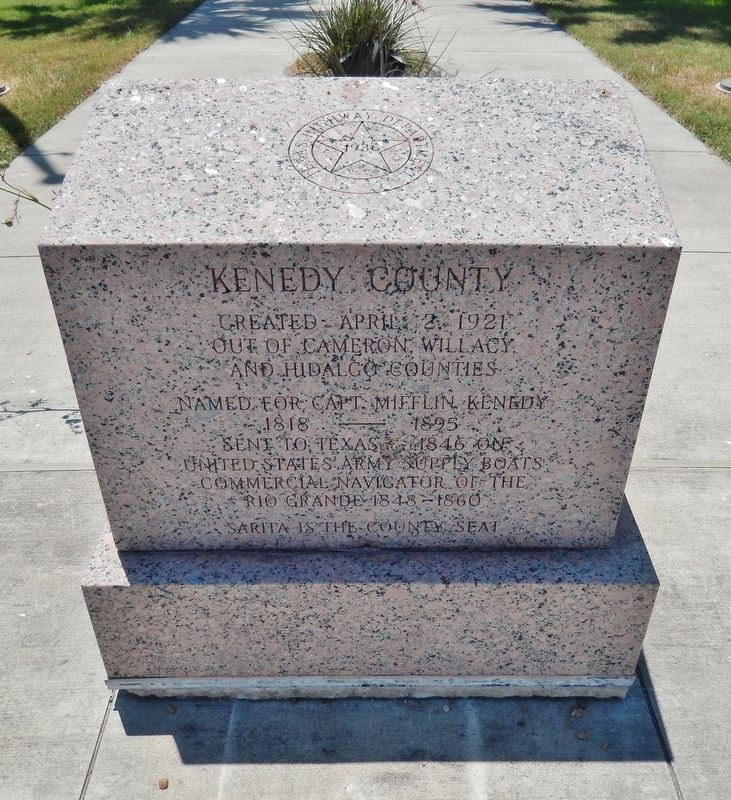 Kenedy County Marker (<i>tall view</i>) image, Touch for more information