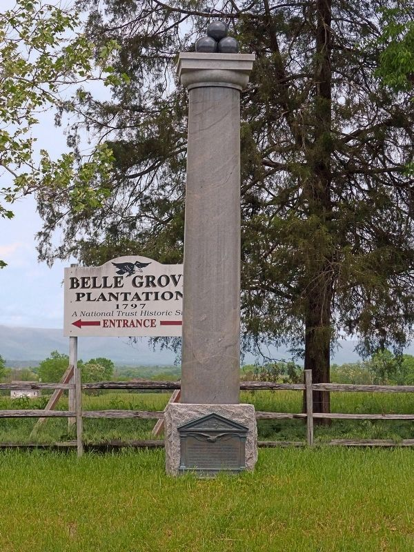 Ramseur Monument<br>at Belle Grove Plantation image. Click for full size.