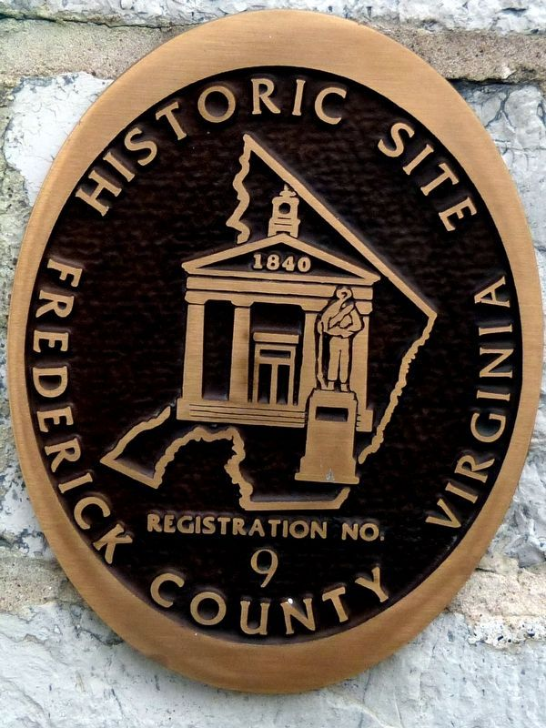Frederick County Virginia<br>Historic Site<br>Registration No. 9 image. Click for full size.