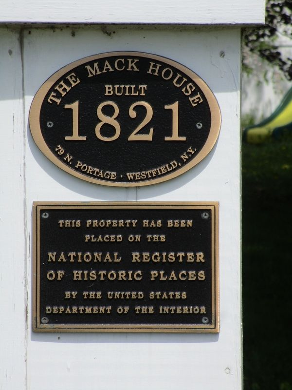 The Mack House Marker image. Click for full size.