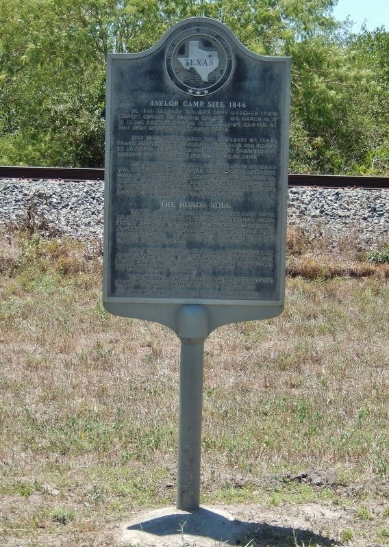 Taylor Camp Site, 1846 Marker (<i>tall view</i>) image. Click for full size.