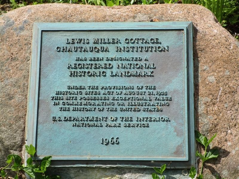 Lewis Miller Cottage Marker image. Click for full size.