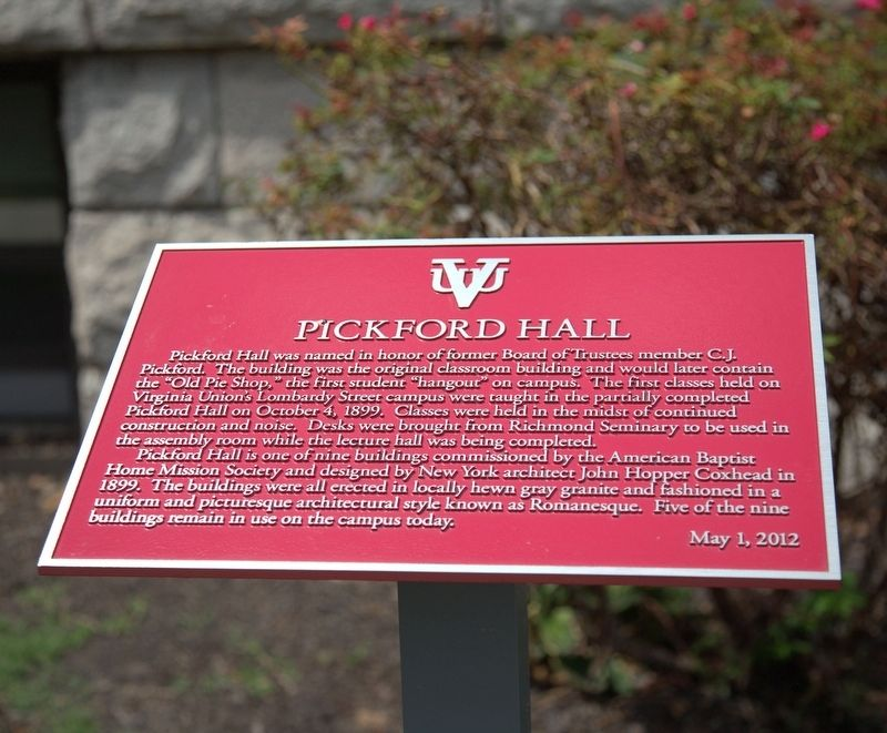 Pickford Hall Marker image. Click for full size.