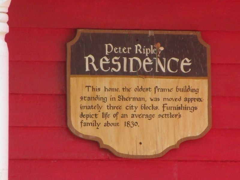 Peter Ripley Residence Marker image. Click for full size.
