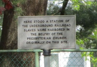 Here Stood a Station of the Underground Railroad Marker image. Click for full size.
