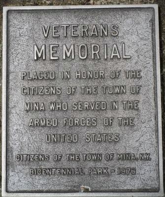 Town of Mina Veterans Memorial image. Click for full size.